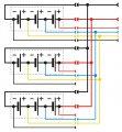 Схема соединения аккумуляторных батарей