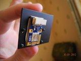 Синий светодиод с радиатором, внешний вид