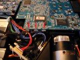 Отсоединяем 3 фишки: питания вентиляторов и оптического датчика